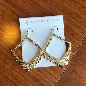 Kendra Scott Gold Lacy statement earrings